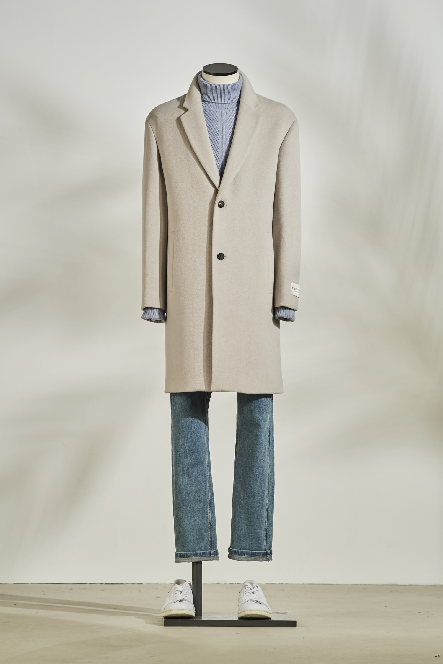 Woolcash Basic Coat #Beige