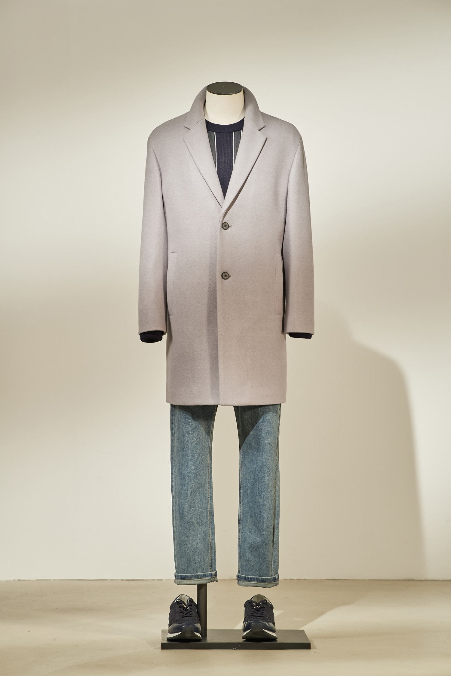 Basic Quilting Coat #Grey