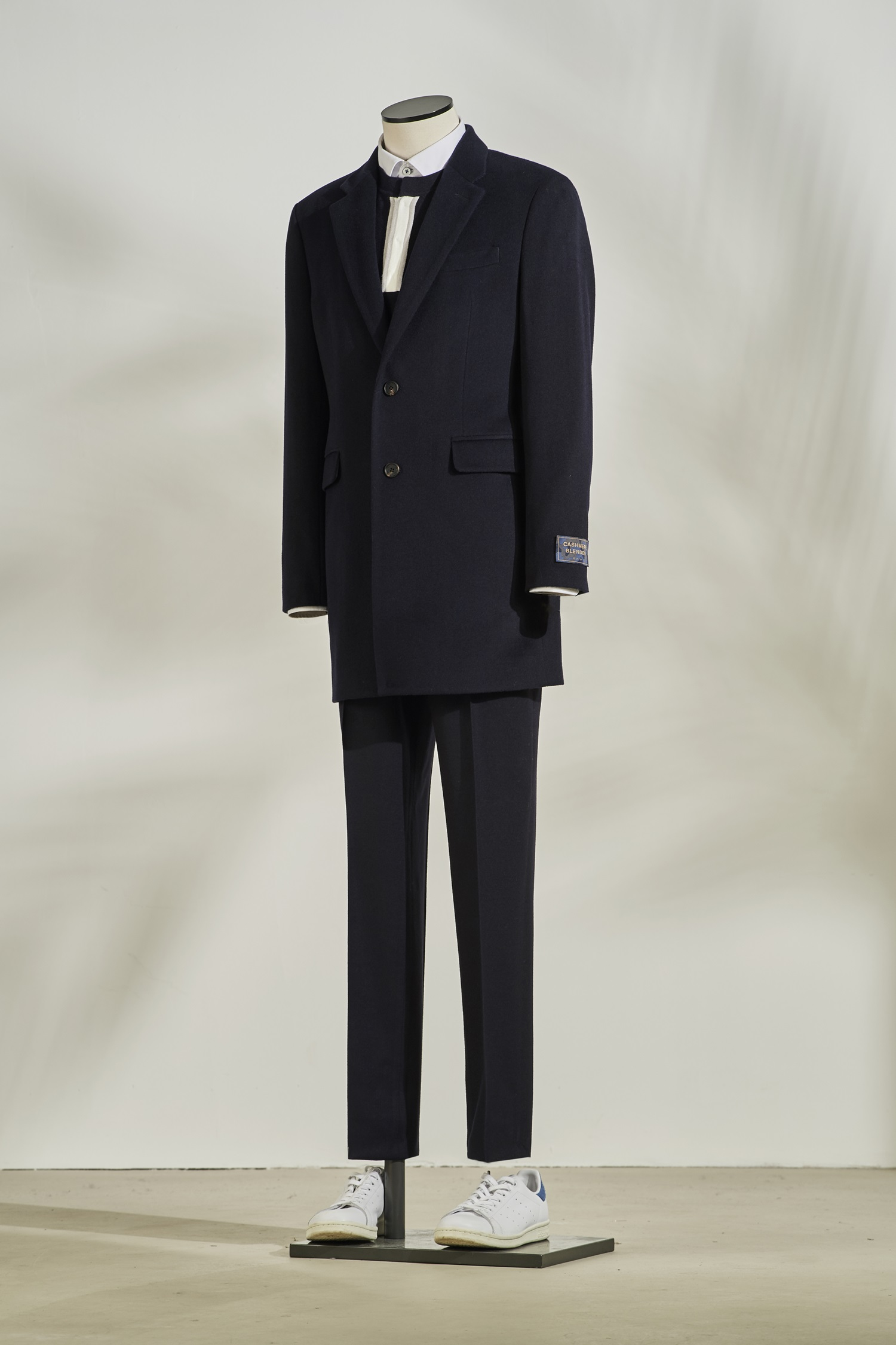 Wool Cashmere Coat #Navy
