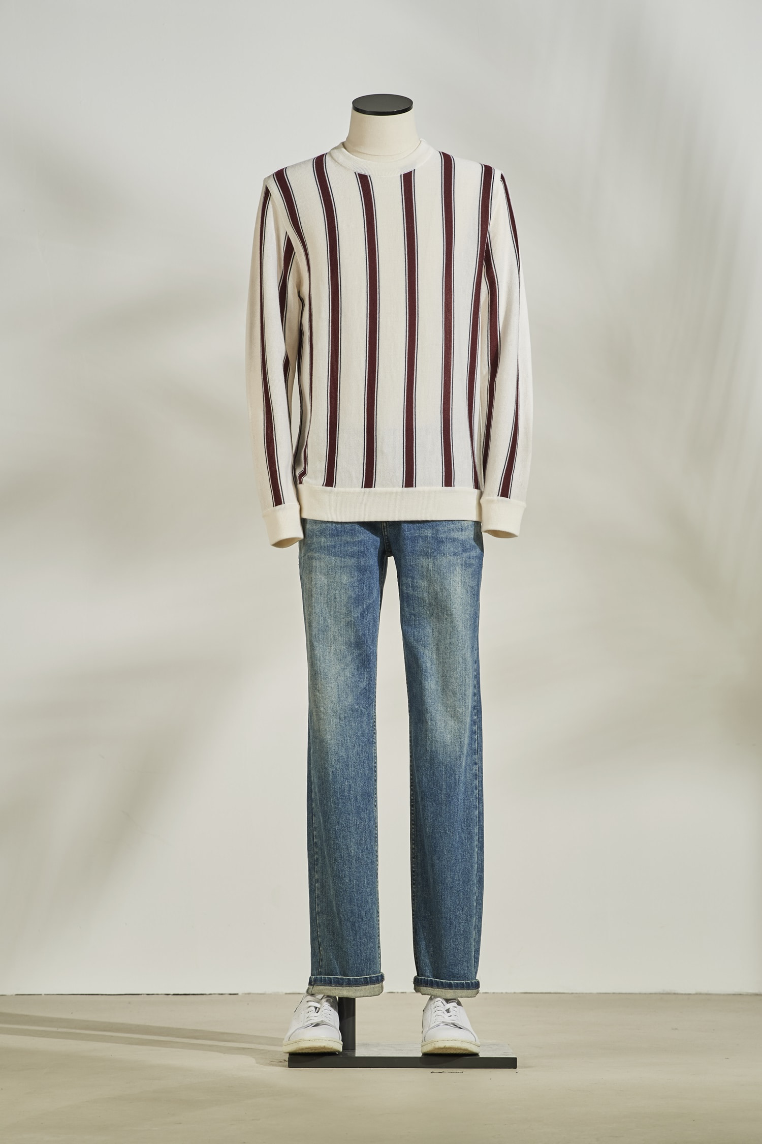 Stripe Wool Knit #Ivory