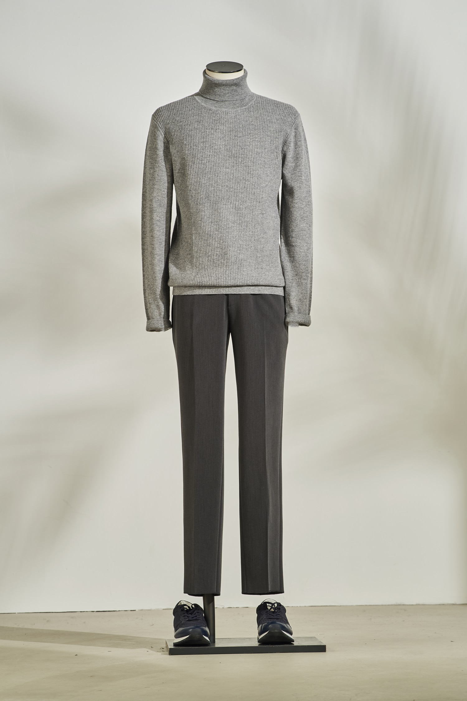 Cashmere Mix Turtleneck #Grey