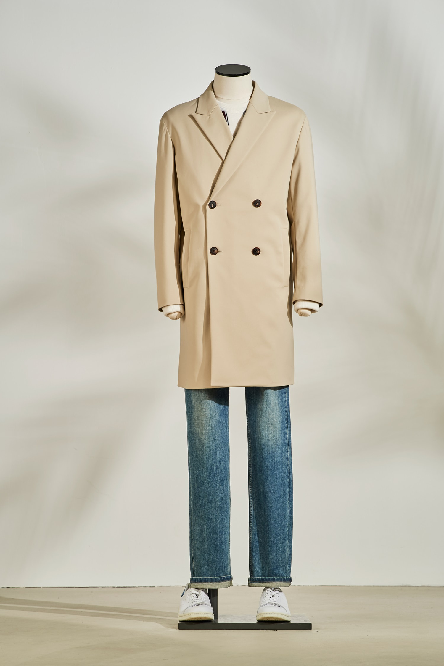 Double Trench Coat #Beige