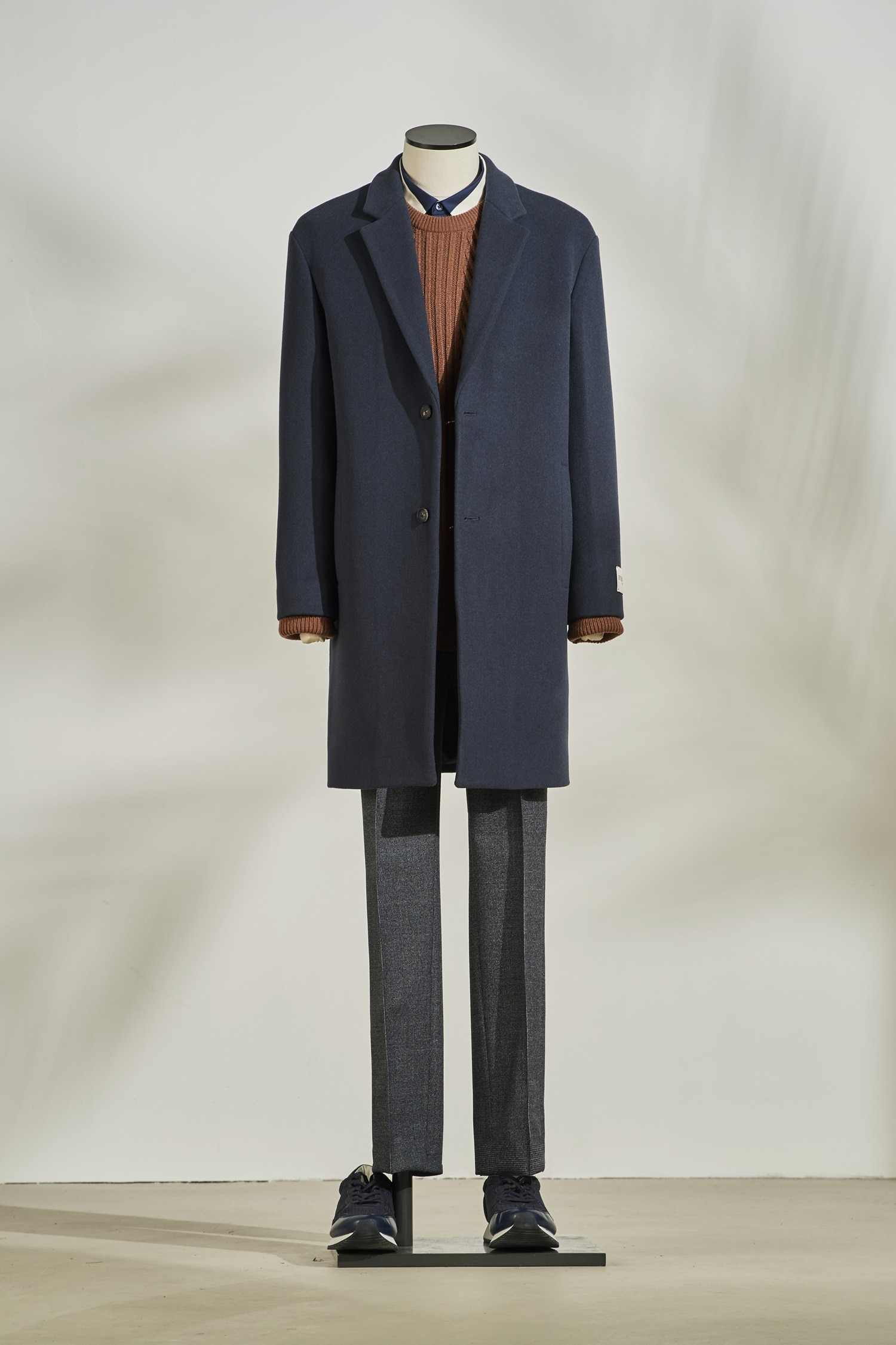 Woolcash Basic Coat #Blue