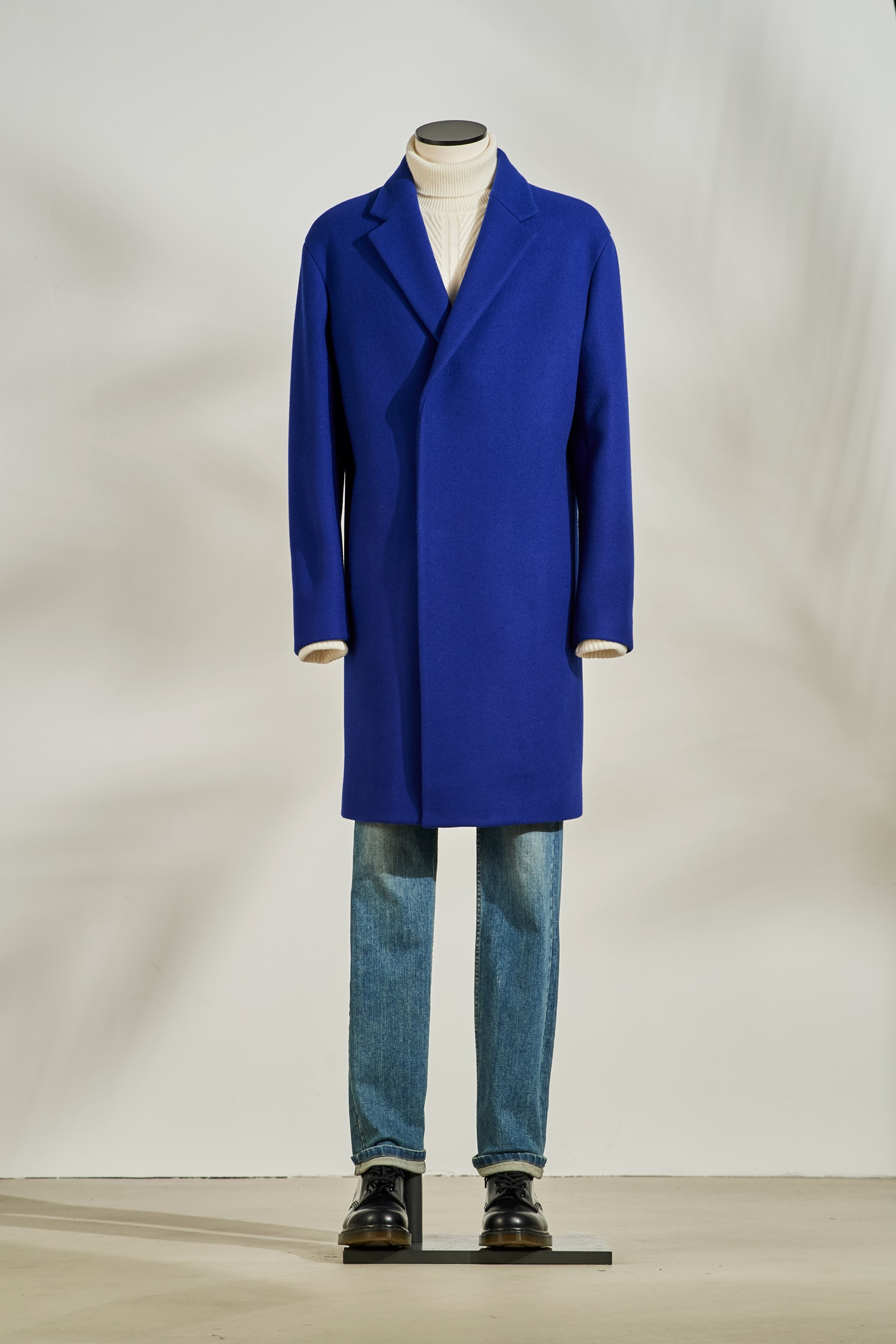 Cobalt Blue Half Double Coat #Blue
