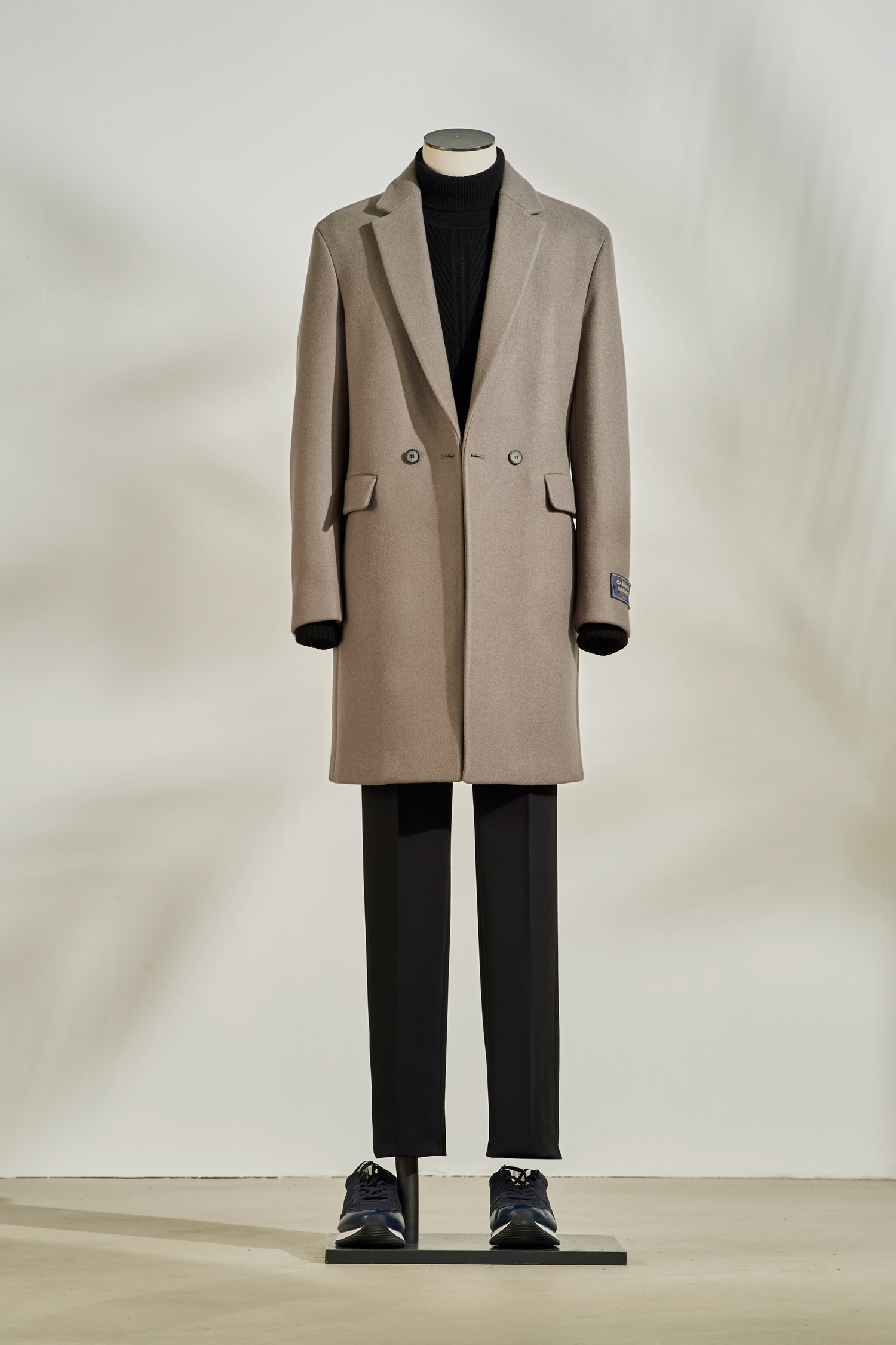 Two Botton Half Coat #Khaki