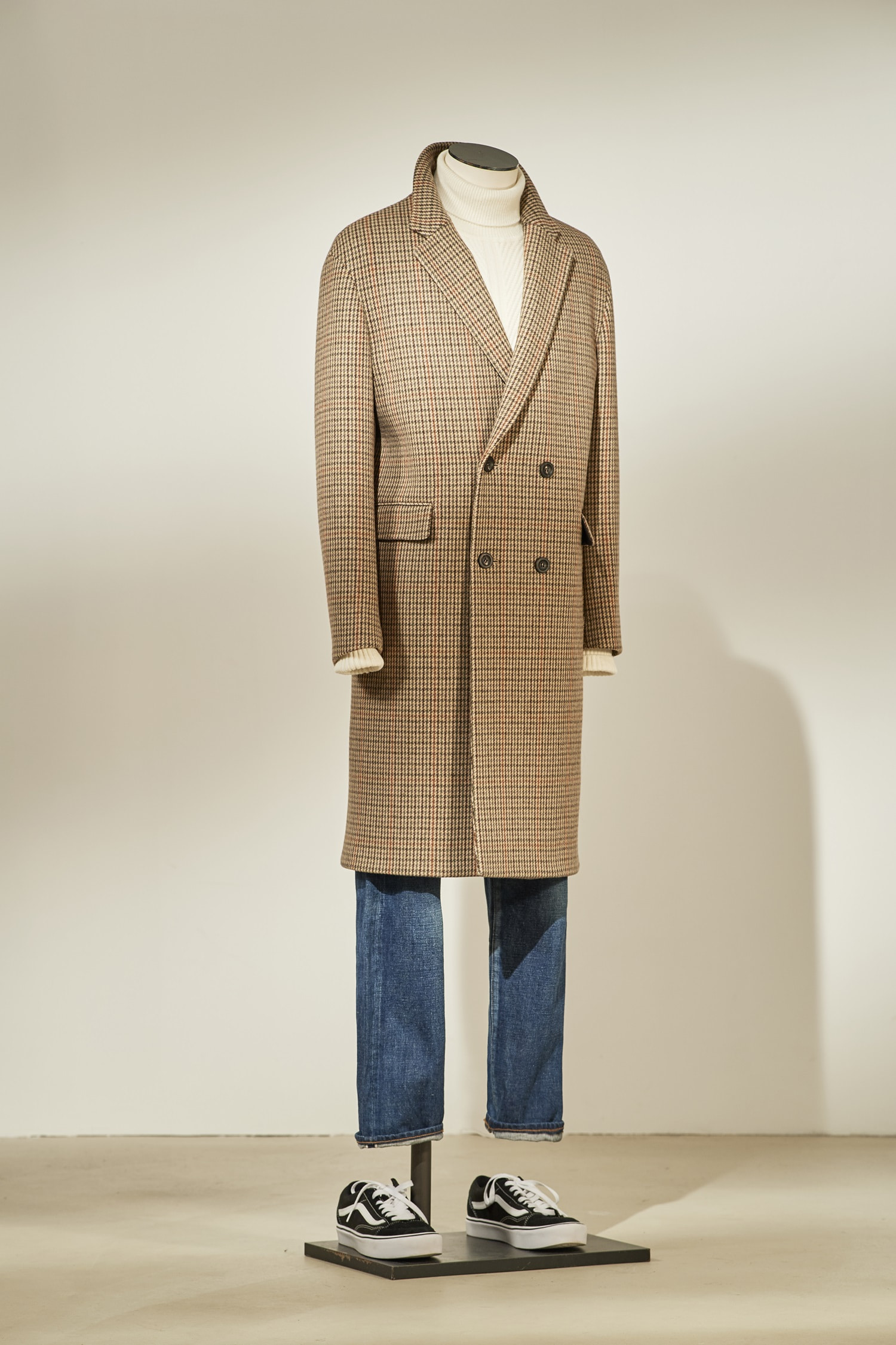 Double Check Coat #Brown