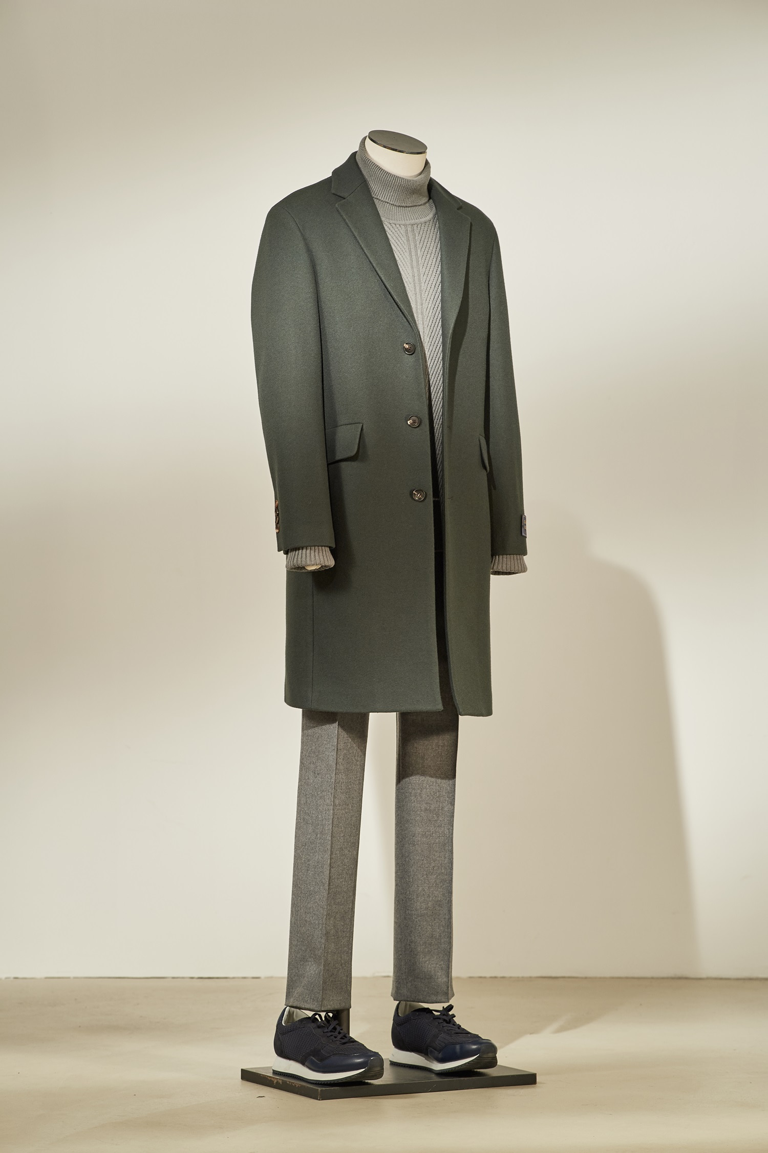 Cashmere Single Coat #Green