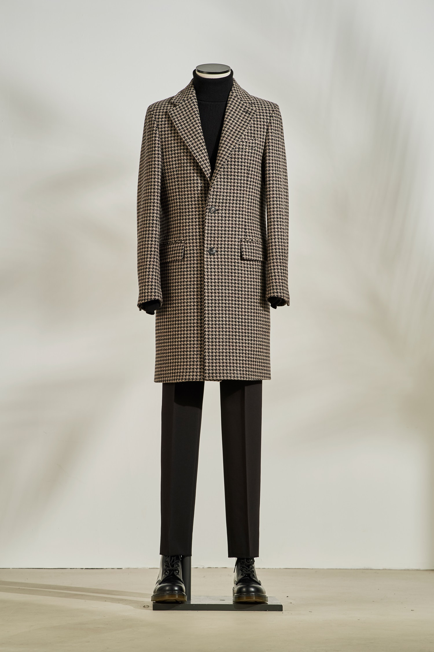 Hound Tooth Check Coat #Brown