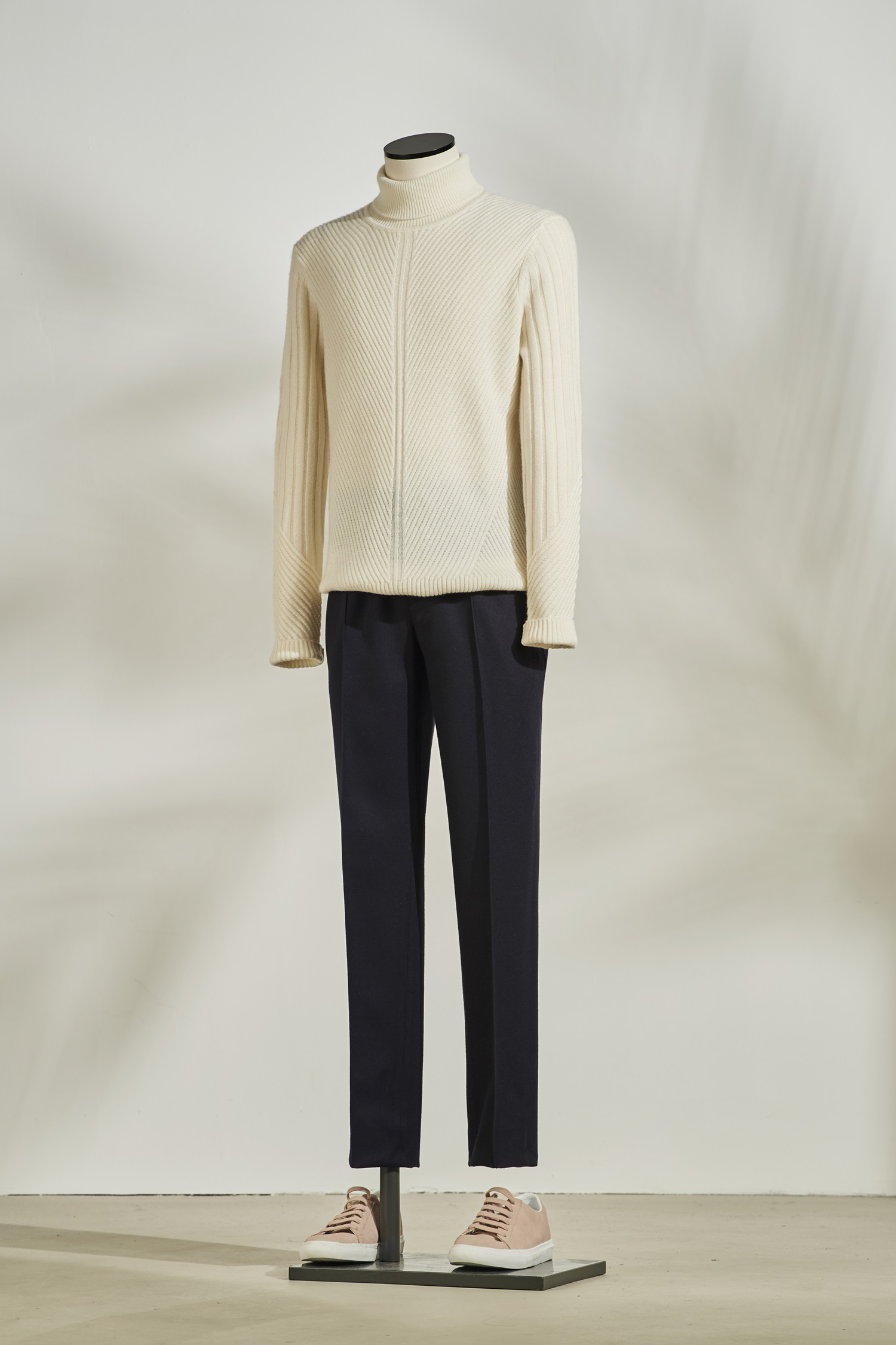 Cashmere Mix Turtleneck #Ivory